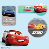 Etiquettes Disney - Cars