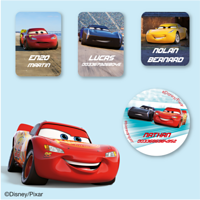 Etiquettes vêtements Disney - Cars
