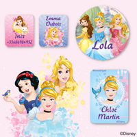 Etiquettes Disney - Princesses
