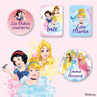 Etiquettes vêtements Disney - Princesses